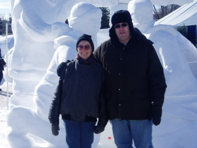 Another Snow Ice Sculpture but with Yvonne and HART in the frame this time