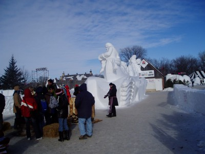 This is the entrance to the site where Festival du Voyageur 2007 was .. at Fort Gibraltar