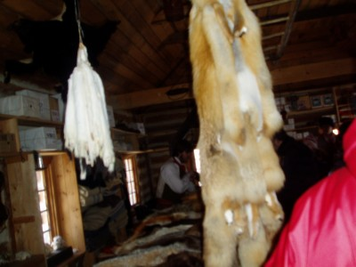 Each hut was unique to Voyageur lifestyle .. this was in the Fur Trading Hut